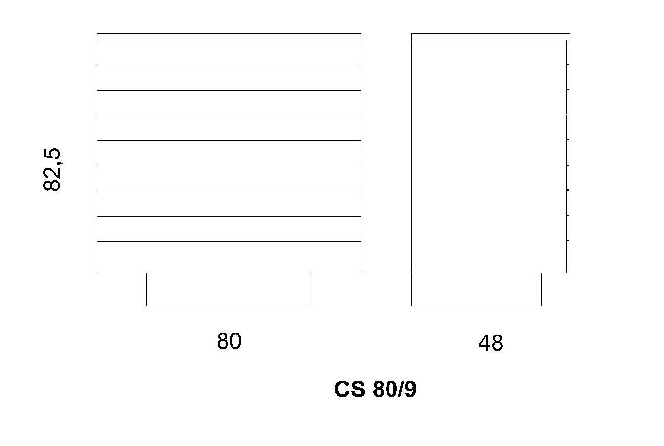 Cassettiera CS 80/9
