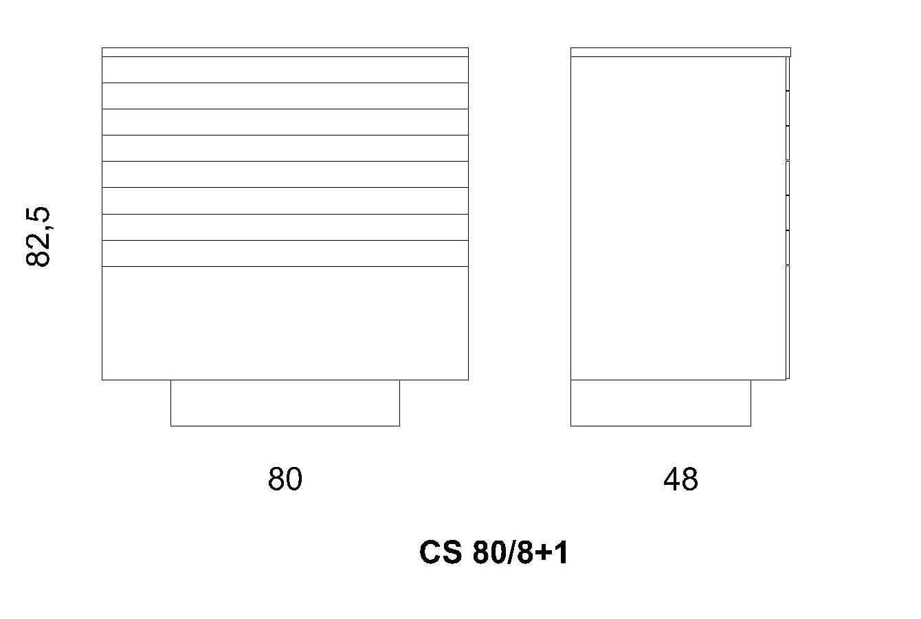 Cassettiera CS 80/8+1