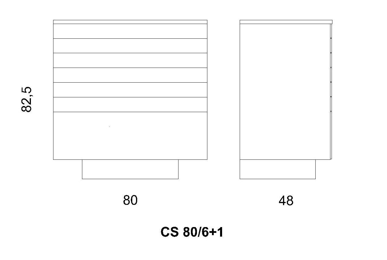 Cassettiera CS 80/6+1