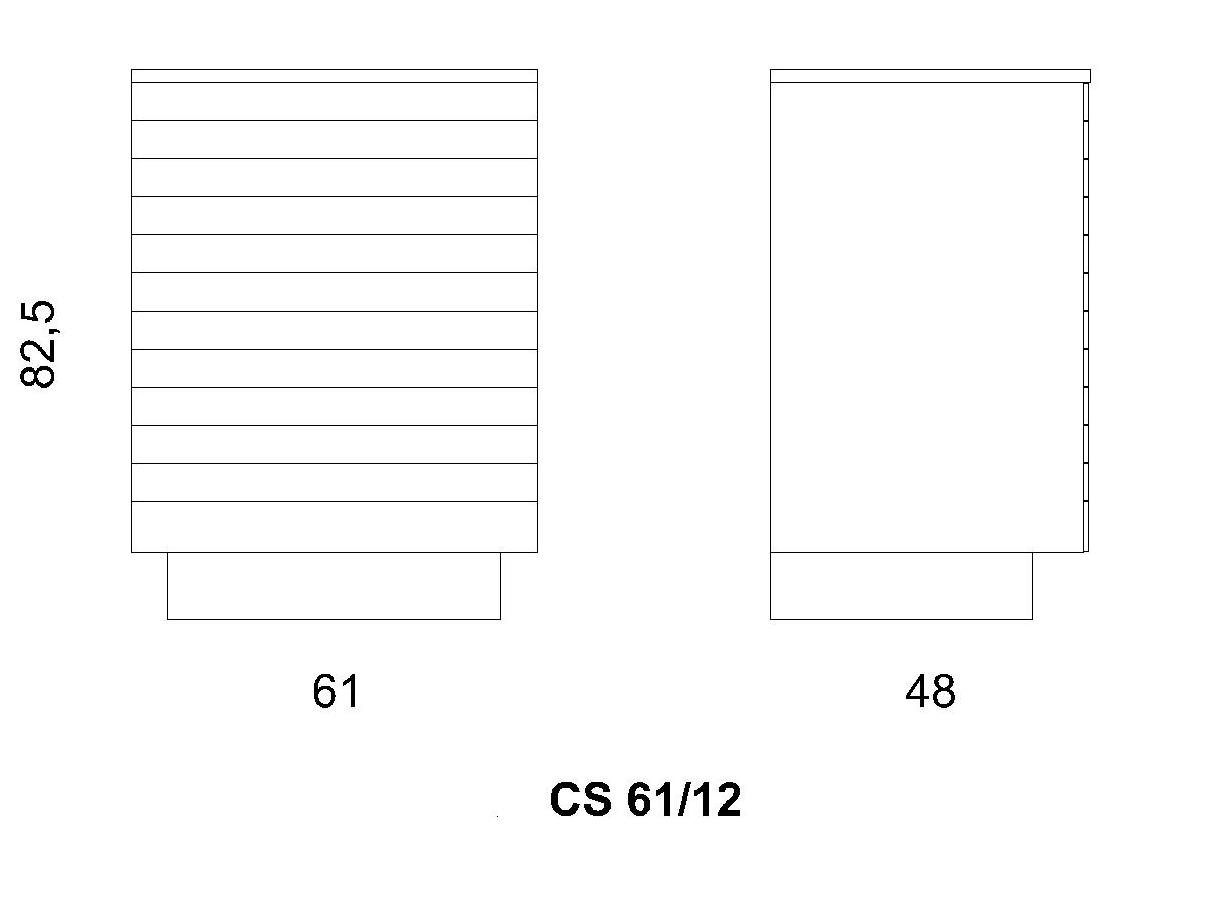 Cassettiera CS 61/12