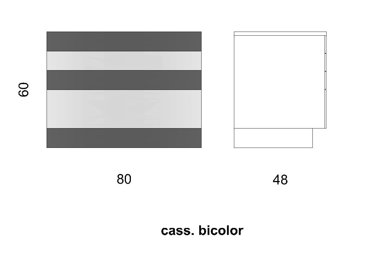 Cassettiera CS BICOLOR/3+1