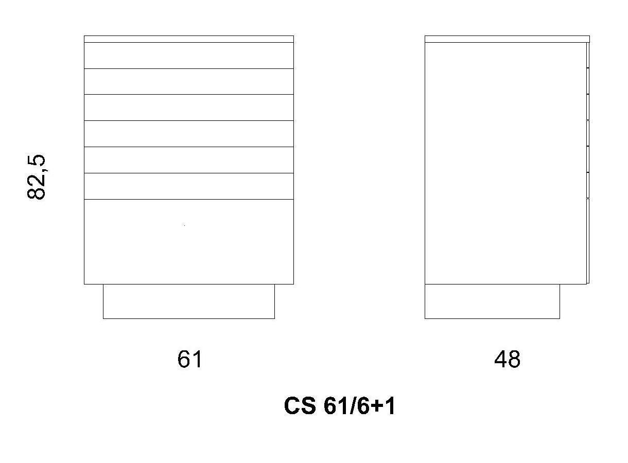 Cassettiera CS 61/6+1