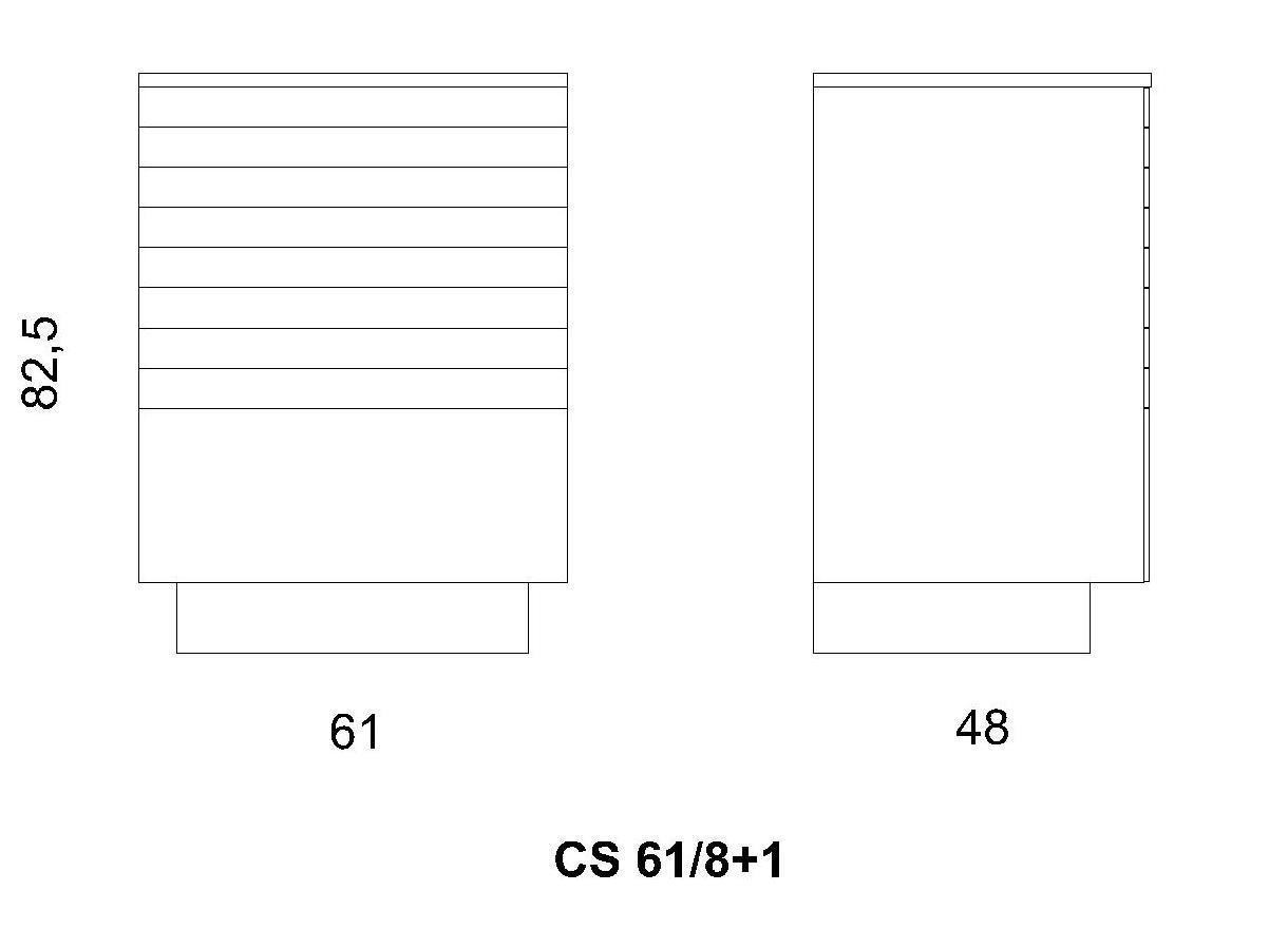 Cassettiera CS 61/8+1