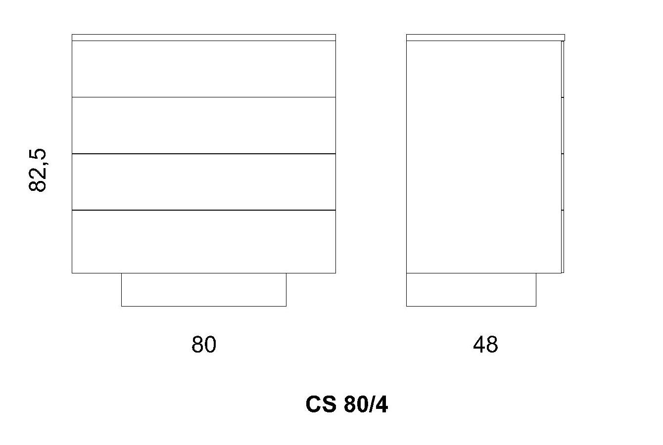 Cassettiera CS 80/4