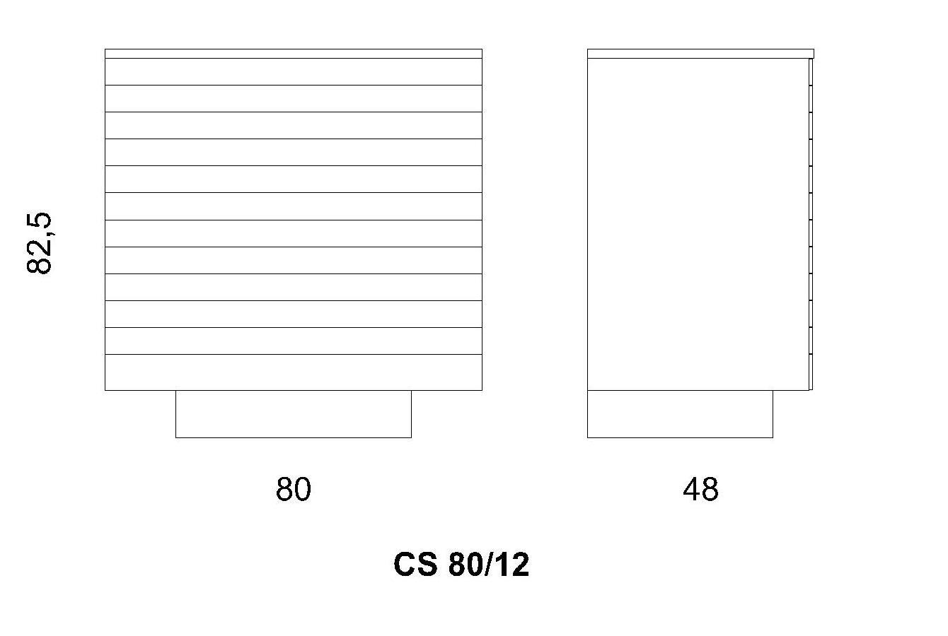 Cassettiera CS 80/12
