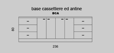 Base cassettiere e antine