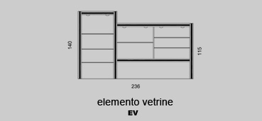 Elemento vetrine